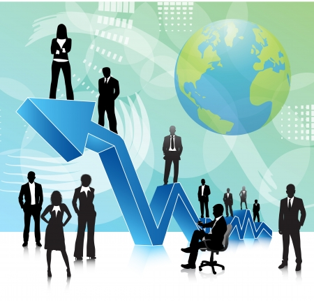 Vector illustration of business people Stock Vector - 24592972