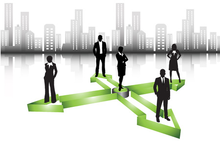 Vector illustration of business people Stock Vector - 24592986