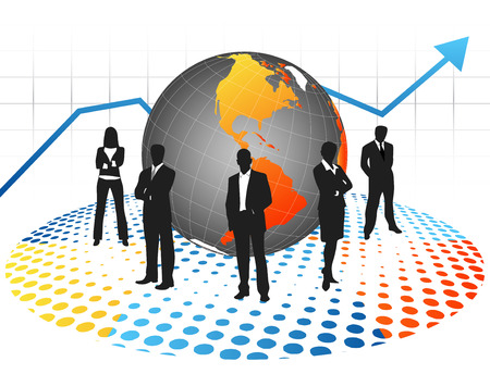 Vector illustrationof business people Stock Vector - 24593041