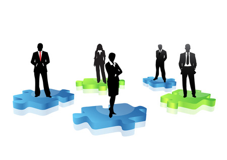 Vector illustration of business people. Illustration