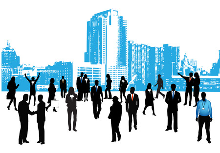 Vector illustration of business people. Иллюстрация