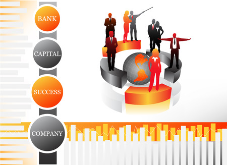 Vector illustration of business people Stock Vector - 24593198