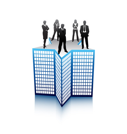 Vector illustration of business people Stock Vector - 24593200