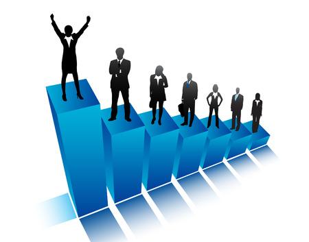 Vector illustration of business people Illustration