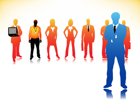 Vector illustration of business people Stock Vector - 24593208