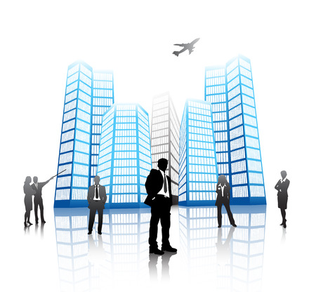 Vector illustration of business people Stock Vector - 24593313