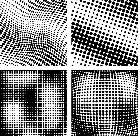 Vector illustration of halftone backgrounds.