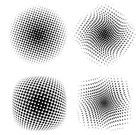 Vector illustration of halftone backgrounds.
