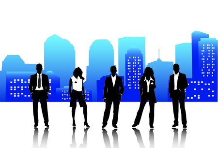 Vector illustration of business people Stock Vector - 24593498