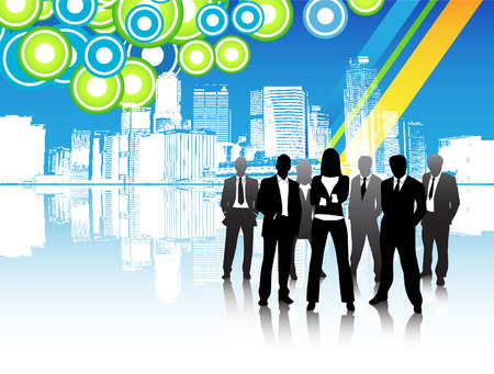 Vector illustration of business people Illustration