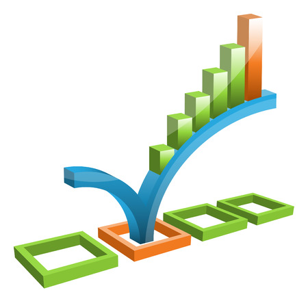Vector illustration of graph. Illustration