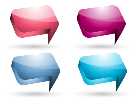 Vector illustration of glossy speech bubble.