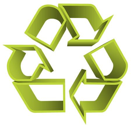 antipollution: Ilustraci�n del vector del icono de reciclar. Vectores
