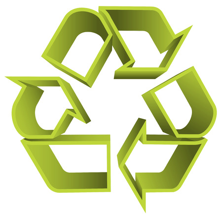 Vector illustration of recycle icon. Illustration