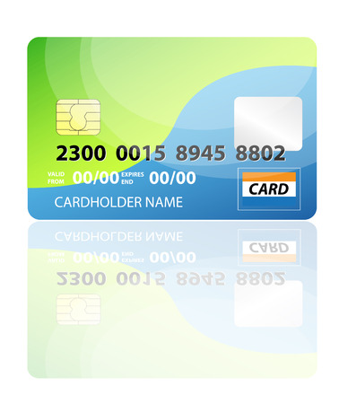 Vector illustration of credit card.