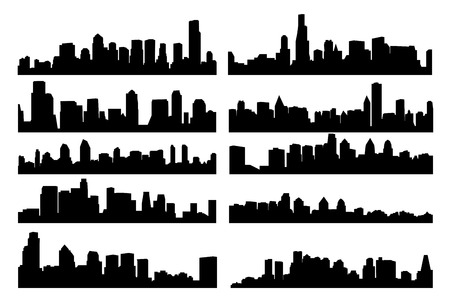 Vector illustration of skyline. Illustration
