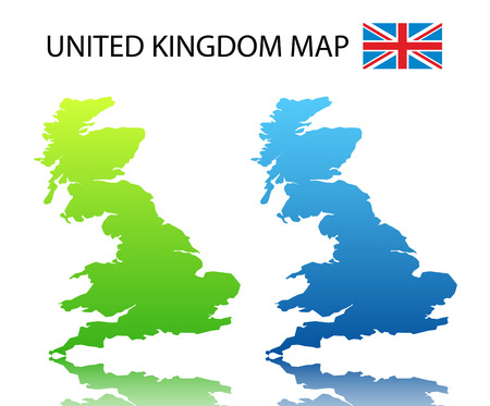 Vector illustration of  UK map