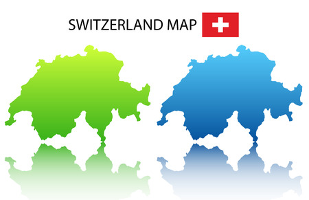 Vector illustration of  Switzerland map Illustration
