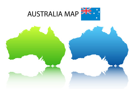 Vector illustration of  Australian map