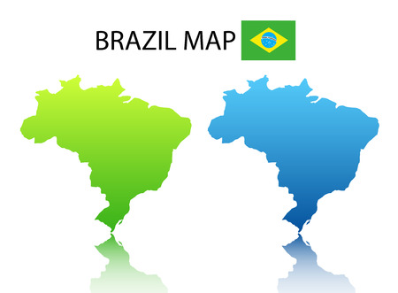 Vector illustration of Brazilian map Illustration