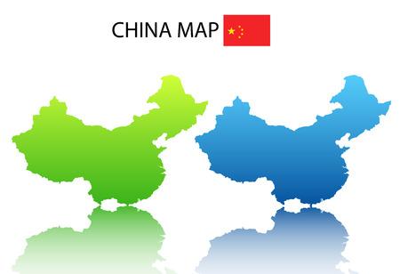 mapa china: Ilustraci�n del vector del mapa chino