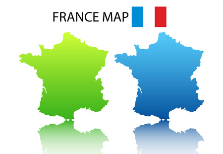 Vector illustration of  French map