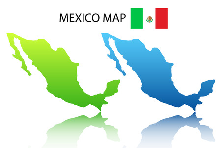 Vector illustration of Mexican map