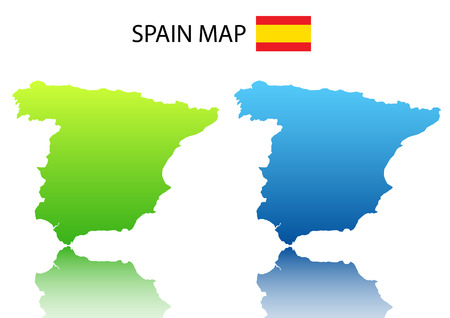 Vector illustration of Spanish  map