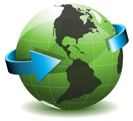 Vector illustration of globe.