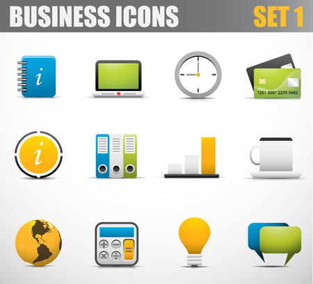 Vector set of business icons.  Vector