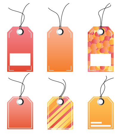 Vector set of labels Illustration