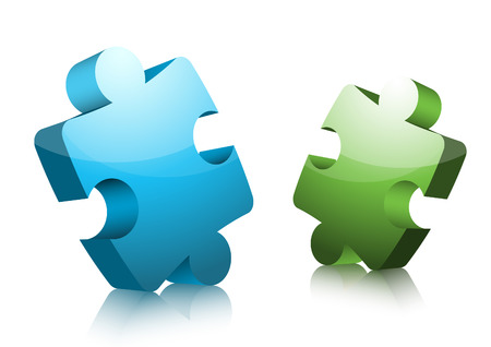 illustration of colorful puzzle.