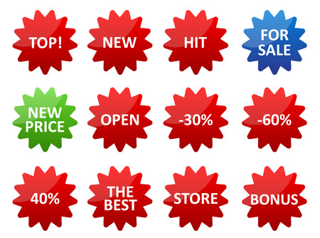 illustration of sale stickers