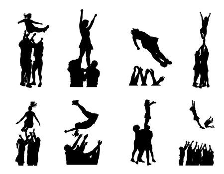 illustration of cheerleaders