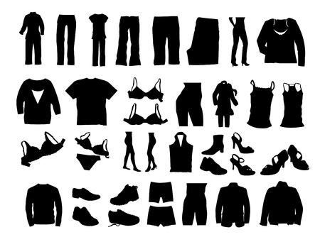 illustration of clothes silhouettes   Illustration