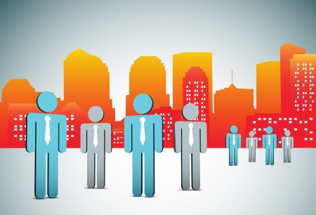 illustration of business people in the city