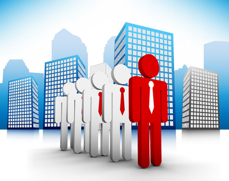 Vector illustration of business people in th city. Contains blending mode.