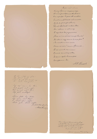 substrate: Fondo del texto escrito a mano Antiguo Papre Con Vectores