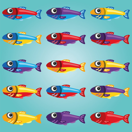 sappy: Set of Bright Cartoon Style Fishes