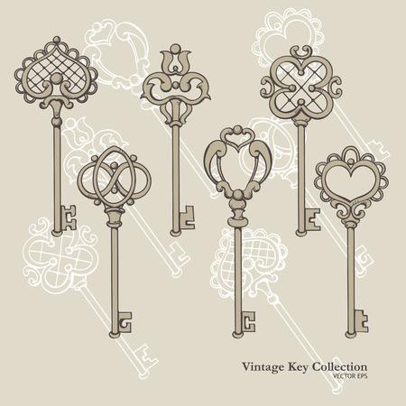 fussy: Set of Vintage Iron Keys