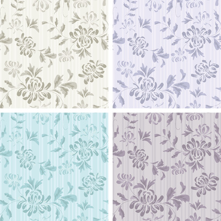 subdued: Seamless Background with flower Pattern