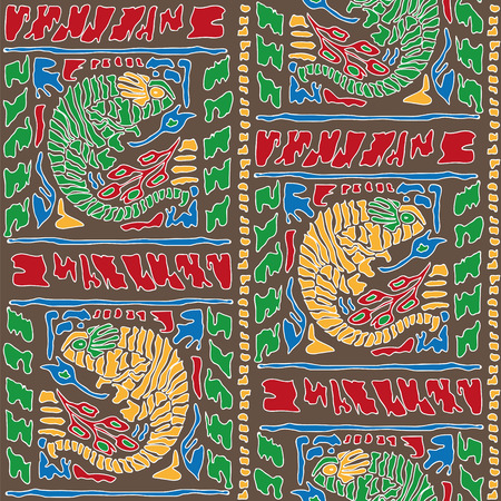 africa chameleon: Seamless background with Chameleon Pattern