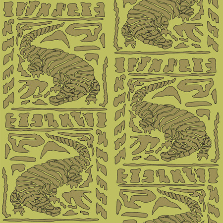 caiman: Seamless background with Crocodile Pattern