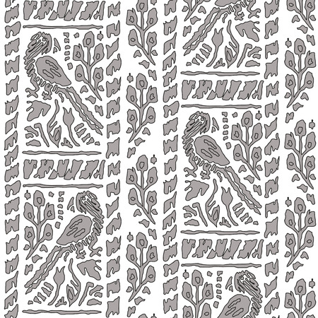 polly: Seamless background with Parrot Pattern