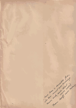 Old Paper With Hand-written Text Background Vector