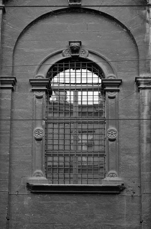 voluminous: Old Cathedral Window Stock Photo