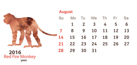 marmoset: August 2016 with Monkey Watercolor Shape Illustration