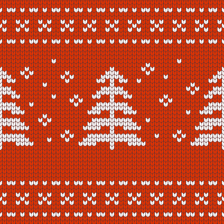 textur: Christmas Design jersey textur with pine treese Illustration