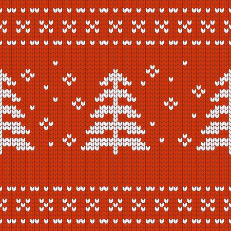 textur: Christmas Design jersey textur with pine treese Illustration