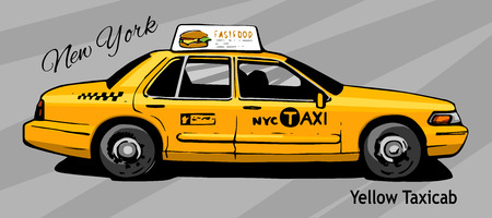 busy city: New York Yellow Taxi Cab